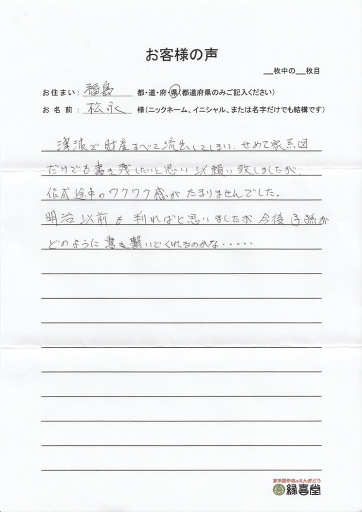 福島県・松永様